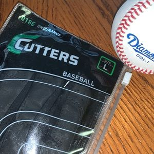 🆕⚾️BASEBALL Batting Gloves CUTTERS Solid Black⭐️